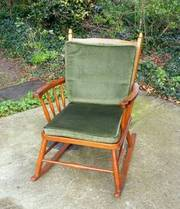 Vintage Retro Beech Rocking Chair