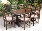 Ercol Elm Dining Table & 6 Chairs Excellent Condition