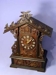 Rare Black Forest Shelf Mantle Cuckoo Clock 1860's GWO