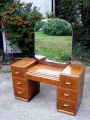 Walnut Art Deco Dressing Table