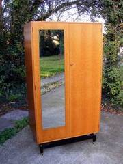 Vintage Retro Teak G Plan Wardrobe With Working Key