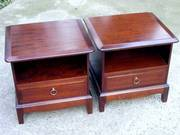 Pair Of Stag Minstrel Bedside Table Cabinets