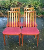 Superb Vintage Retro Set Of 4 G Plan Teak Dining Chairs