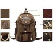 Men Backpack Travel Bags | Stylish Look Rivets Zipper Bags