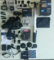 gopro 3 silver with accessories
