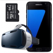 Samsung Galaxy S7 Edge SM-G935F + Gear VR + 64GB SD Card