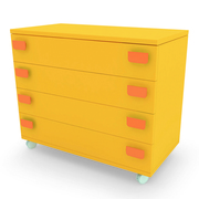 Childrens Orange Chest Of Drawers