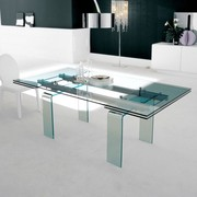 Italian Dining Table | Alfa Extending Glass Dining Tables