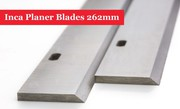 Inca Planer Blades Knives 262mm Long with 2 Slots - 1 Pair Online @ UK