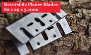 82 x 5.5 x 1.1mm Reversible Planer Knives For Hand-held Electric Power