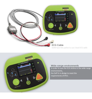 Portable color screen AED defibrillator monitor with ECG biphasic Auto